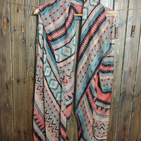 Classic color super long large scarf shawl geometry