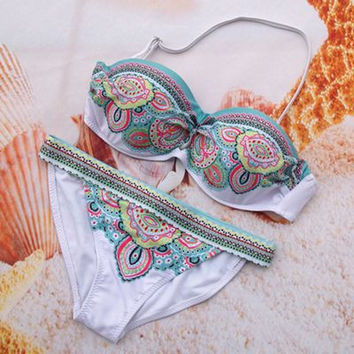 Swimwear Women 2017 New Push Up Bikini Set Women's Swimsuit Plus Size Women Swimsuit Swimwear Biquini Femme Beach Swim Wear