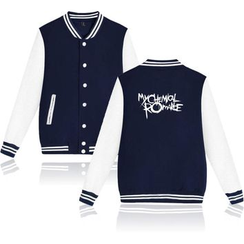 My Chemical Romance Long Sleeve Hoodies Autumn Winter Jackets Cool And Funny Fashion Tracksuit Jacket Coat Big Size 4XL