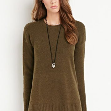Vented Fuzzy Sweater