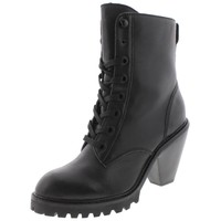 Kelsi Dagger Womens Breda Lace-Up Chunky Heel Combat Boots