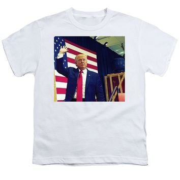 President Donald Trump Watercolor Portrait - Youth T-Shirt