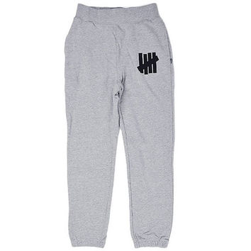Undefeated: 5 Strike FA14 Sweatpant - Grey Heather - Grey /