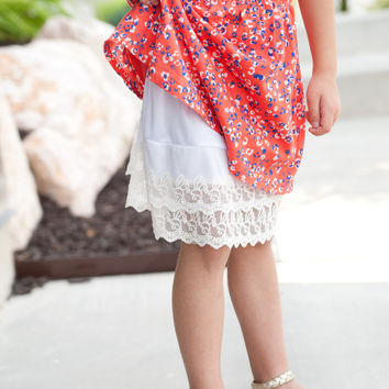 Girls Lace Skirt Extender Slip