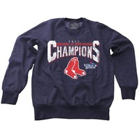 Majestic Threads Boston Red Sox 2013 MLB World Series Champions Tri-Blend Crew Sweatshirt - Navy Blue