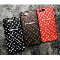 Supreme tide brand men and women frosted iphone6splus soft shell mobile phone case cover