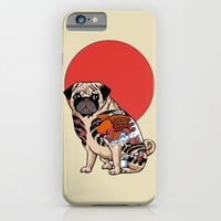 Yakuza Pug iPhone & iPod Case by Huebucket