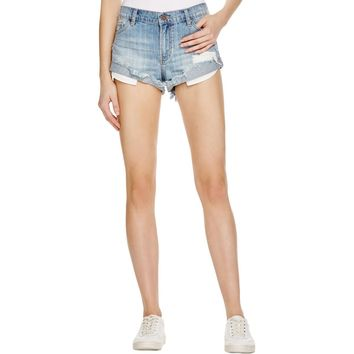 Pistola Womens Baggy Destroyed Cutoff Shorts