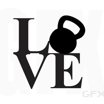 Kettlebell Love Decal