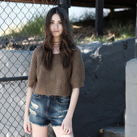 Cropped Damsel in Distress Top