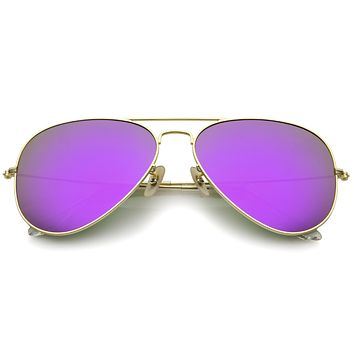 Oversize Premium Design Matte Metal Aviator Sunglasses 61mm A805