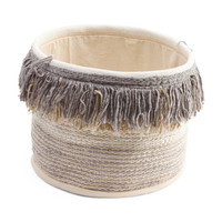 Made In India Small Fringe Storage Basket - Made In India - T.J.Maxx