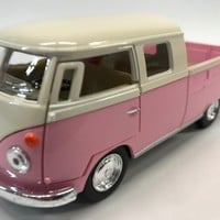 Volkswagen Bus 63 Double Cab 1:34 Scale KT.5387.DY Pink