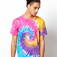 Reclaimed Vintage T-Shirt with Tie-Dye Print