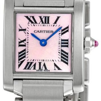 Cartier Tank Francaise Ladies Swiss Quartz Watch W51028Q3
