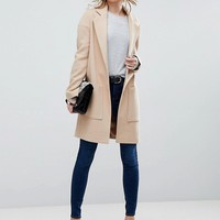 ASOS Crepe Pocket Detail Coat at asos.com