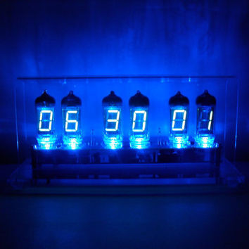 Six Digit Vacuum Fluorescent Display Tube Clock The by electronico