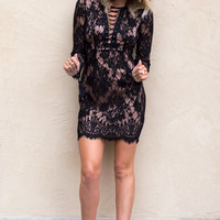 Nadya Black Lace Dress