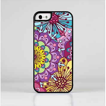 The Colorful Vector Flower Collage Skin-Sert Case for the Apple iPhone 5/5s