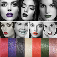 Hot Fashion Lip Cosmetics Shine Lipstick Professional Make-up Beauty Black Blue Green Pale Violet Lip Stick [11043707212]