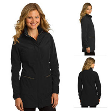 OGIO Ladies Intake Trench Coat - Large (Blacktop)