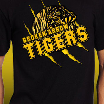 Broken Arrow Tigers Claw Rip T-Shirt