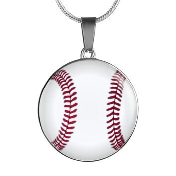 Summer Baseball Necklace with Personalized Engraving On The Back - Perfect Father's Day Gift with Inspirational Love Message