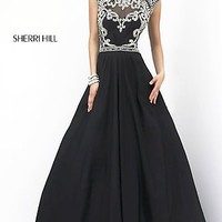 High Neck A-line Prom Dress