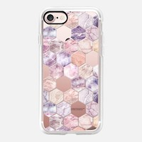 Rose Quartz and Amethyst Stone and Marble Hexagon Tiles transparent iPhone 7 Case by Micklyn Le Feuvre | Casetify