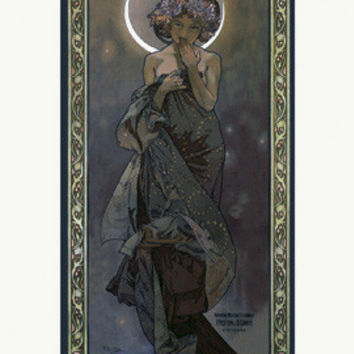 Nouveau Moonlight by Alphonse Mucha Fine Art Print