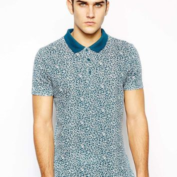 Native Youth Polo Shirt With Floral Print