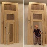 Small, Medium & Large: Three-in-One Interior Door Design | Designs & Ideas on Dornob