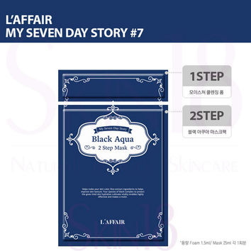 Laffair [ My Seven Day Story ] #7 (Blue) Black Aqua 2 Step Mask  *exp.date 09/18