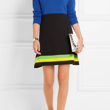 J.W.Anderson - Color-block wool mini dress