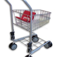 Toy shopping cart for kids and toddler - Pretend Play - Folds for Storage - High Quality Metal Frame