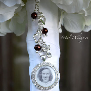 Bridal Accessories - Bouquet Memorial Charm - Bridal Bouquet Charm - Bouquet Photo Charm - Bridal Gift - Wedding Bouquet Picture Charm