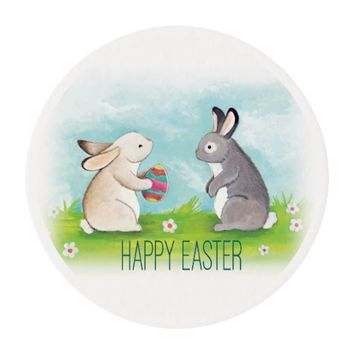 Happy Easter Edible Frosting Sheets - 2 Inch Round