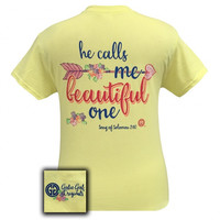 Girlie Girl Originals Calls Me Beautiful One Corn Silk T-Shirt