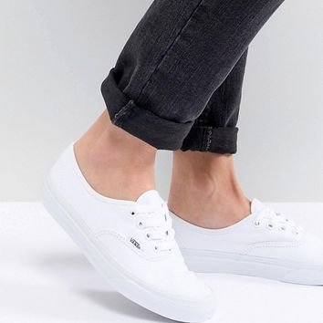 Vans Authentic Trainers In White at asos.com