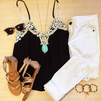 Aster Lace Top - Black