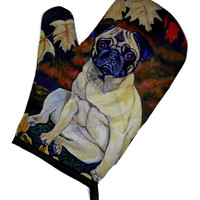Fawn Pug in Fall Leaves Oven Mitt 7160OVMT