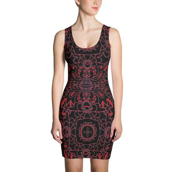 Dark Mystic Mandala Sublimation Cut & Sew Dress