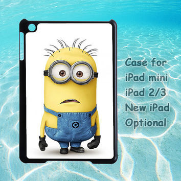 minions iPad mini case, iPad 2 case, iPad 3 case, New iPad case, iPad cover, Despicable me iPad case, customizable, customized, handmade