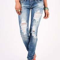 Frayed Straight Denim | Straight Leg Jeans at Pink Ice