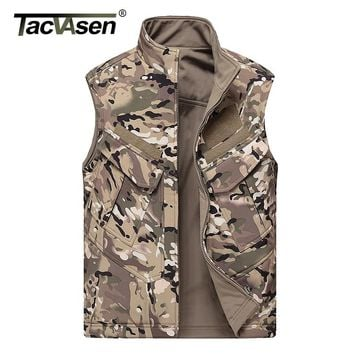 TACVASEN Combat Tactical Vest Men Hunt Sleeveless Jacket Reversible Vest Clothing Male Army Military Waistcoat Vest TD-JLHS-027