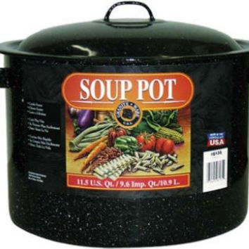 Granite-Ware® 6135 Porcelain-On-Steel Covered Soup & Stew Pot, 11.5 Qt