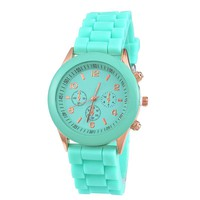 FUNIQUE Jelly Rubber Women Quartz Watch