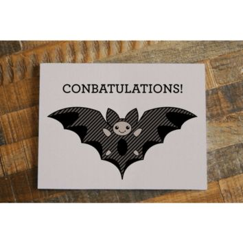ConBATulations! Bat Congratulations Card