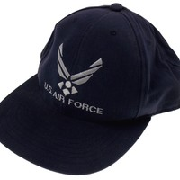 Air Force Blue Hat Baseball Cap Hat One Size Adjustable USA Embroidered