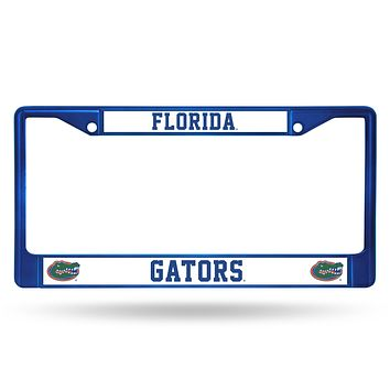 Florida Gators Metal License Plate Frame - Blue
